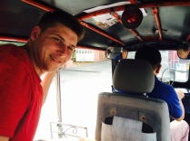 Michael's first tuk tuk ride!