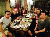 The farang crew at Riverside Cafe for Christmas dinner