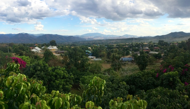 From the Viewpoint Cafe in Pai